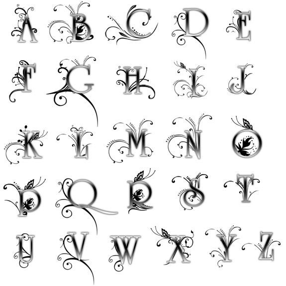 Font Letters In A Square