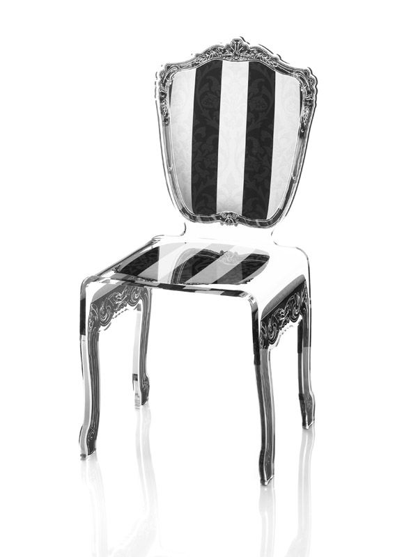 modern acrylic furniture. acrila gamme baroque chair furniture made of smart and modern acrylic for an exclusive decoration t