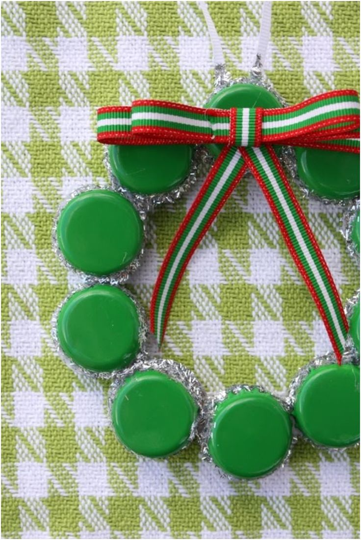 Top 10 upcycled bottle cap diy christmas ornaments diy christmas and christmas ornament - Plastic bottle caps crafts ideas ...