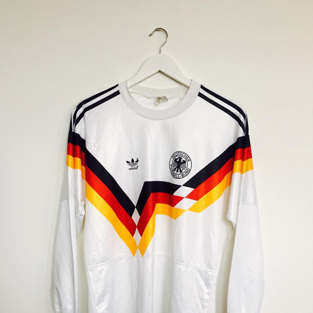"""Box 2 Box Football on Instagram: """"A World Cup Winning shirt... West Germany 1990/92. AVAILABLE NOW, from here: www.box2boxfootball.com. #adidasoriginals #adidas #adidasfootball #westgermany #worldcup #italia90 #footballshirt #soccerjersey #footballculture #soccerculture #cultkits #box2boxfootball #shop"""""""