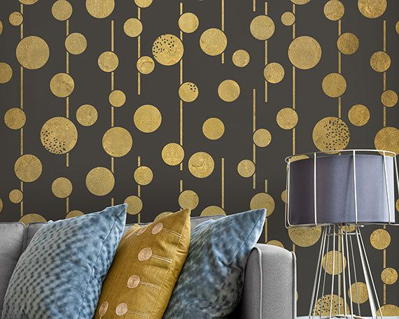 large geometric circles wall stencils boho chic and glam stenciled