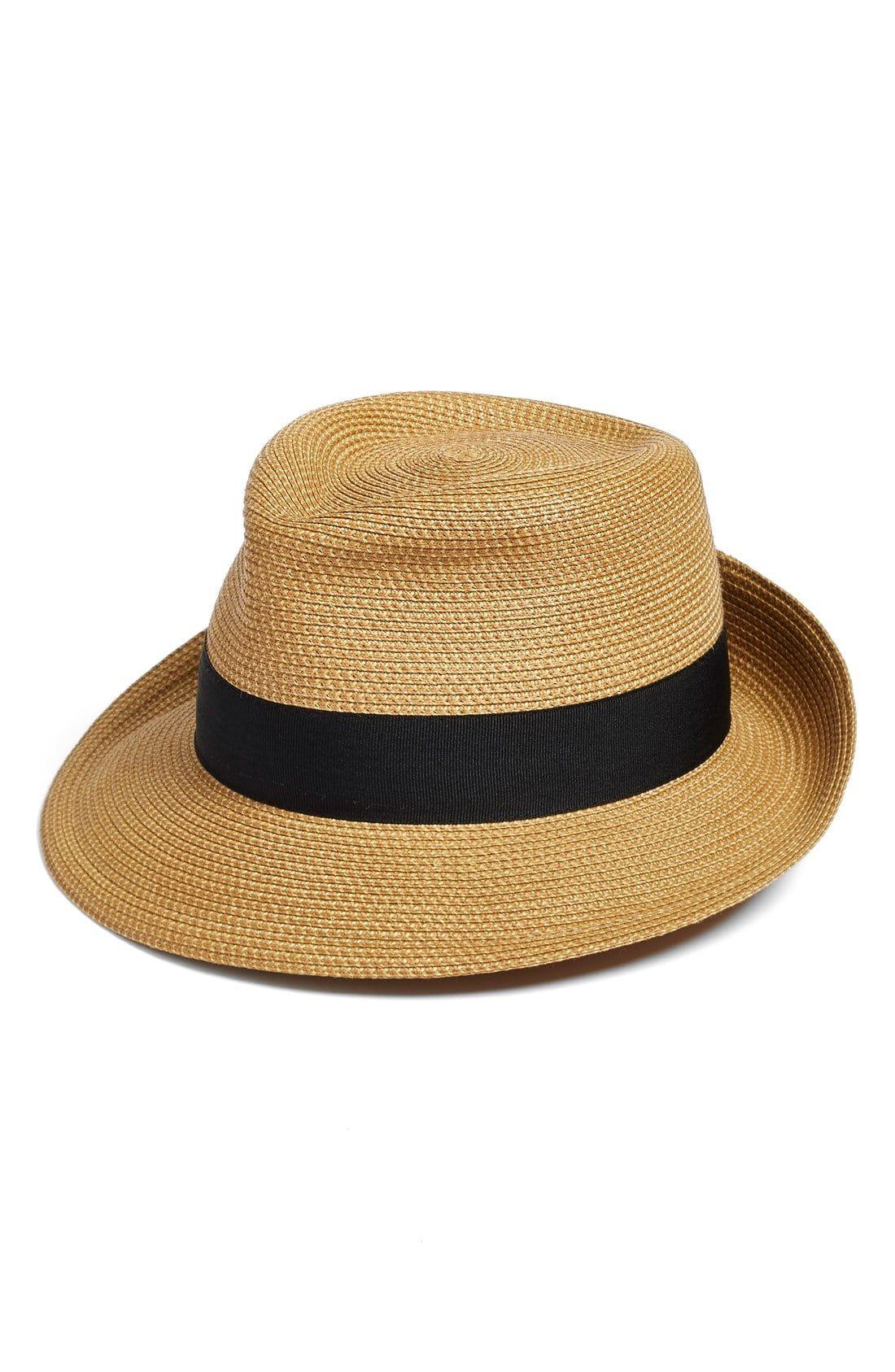 3199fbec240ac Women s Eric Javits Classic Squishee Packable Fedora Sun Hat - Ivory ...