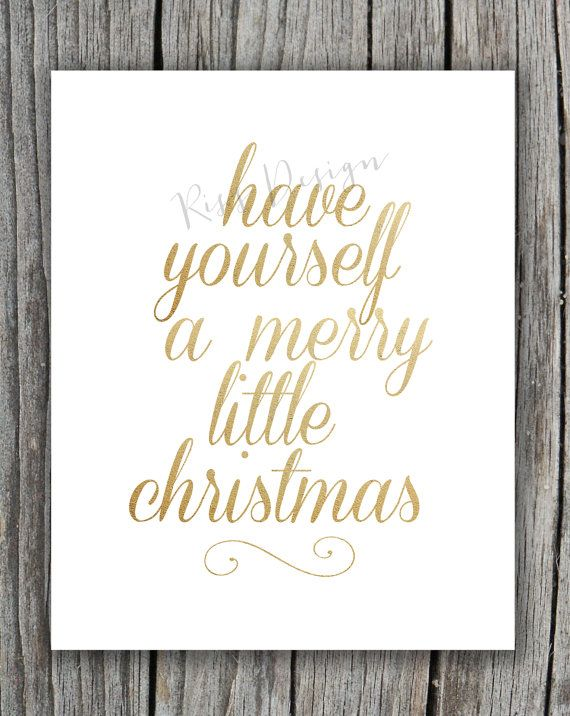 Merry Little Christmas Lyrics.Have Yourself A Merry Little Christmas Printable With Gold