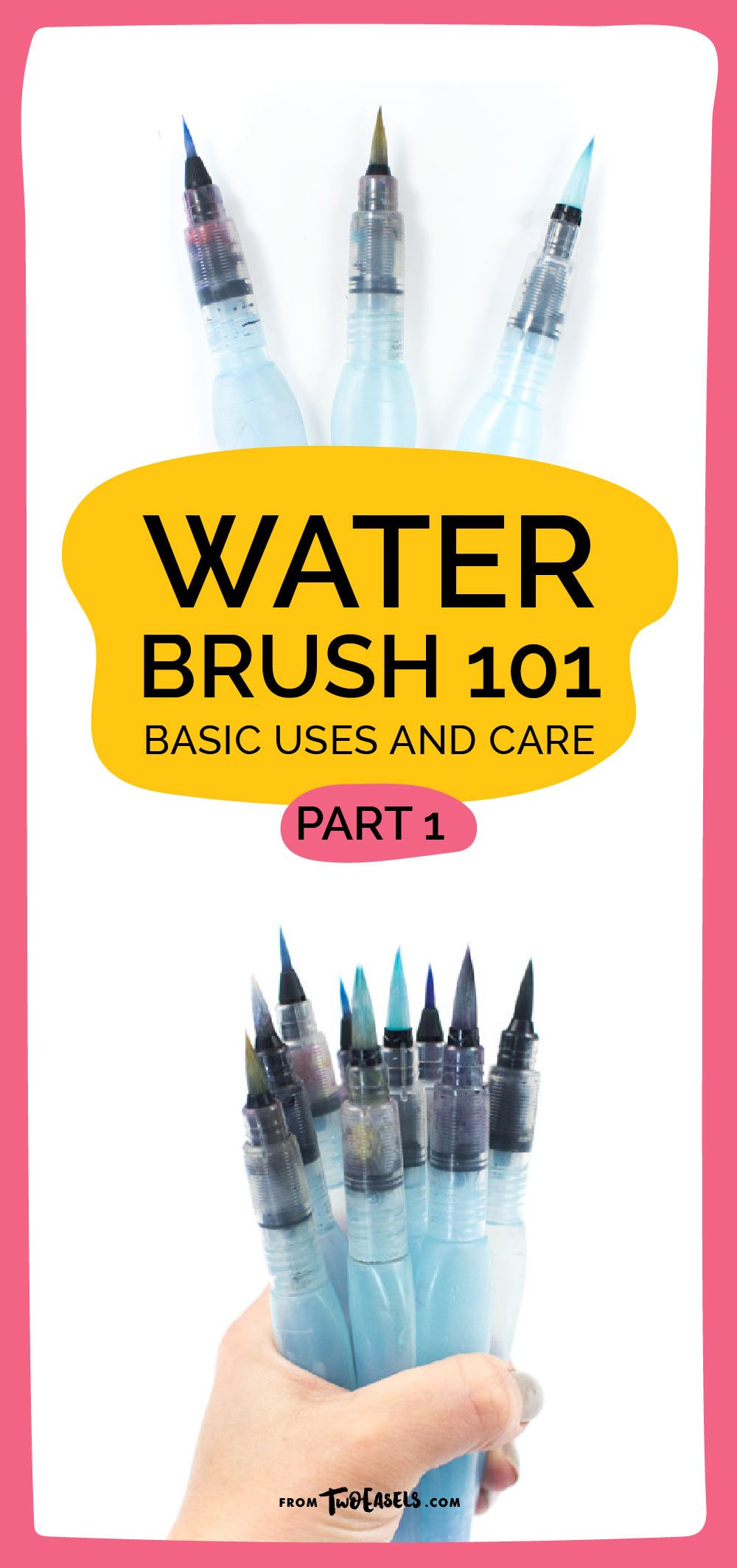 Water Brush 101 Brush Pen Art Water Brush Watercolor Lettering
