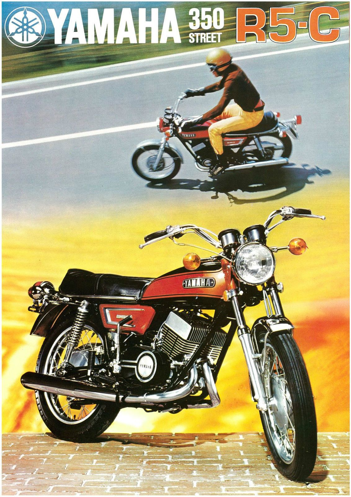 Yamaha Brochure R5 R5c R5 C 1972 Sales Catalog Catalogue Repro Rd350 Yamaha Yamaha Bikes Yamaha Motor