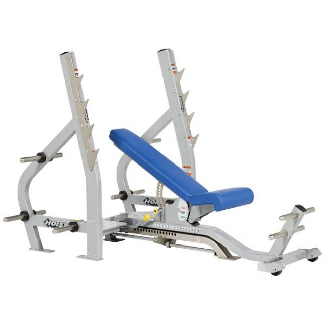 Hoist 3 Way Olympic Bench Incline Decline Bench Gym No Equipment Workout