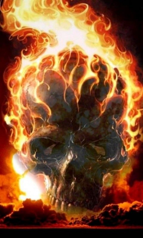 Ghost Rider Phone Wallpaper Phone Background Arts In 2019 Skull