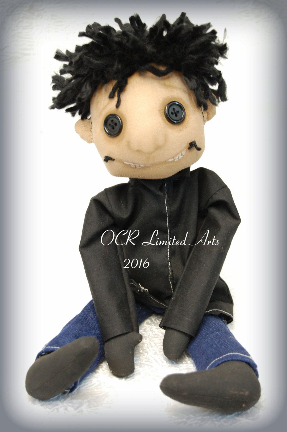 The Other Wybie Button Eye Doll Coraline Inspired Creepy Cute Ooak Handmade Art Doll Cloth Doll Collectible G Art Dolls Handmade Art Dolls Cloth Gothic Dolls
