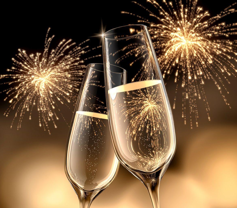 Открытки с новым годом бокал шампанского, сделать открытку приглашение