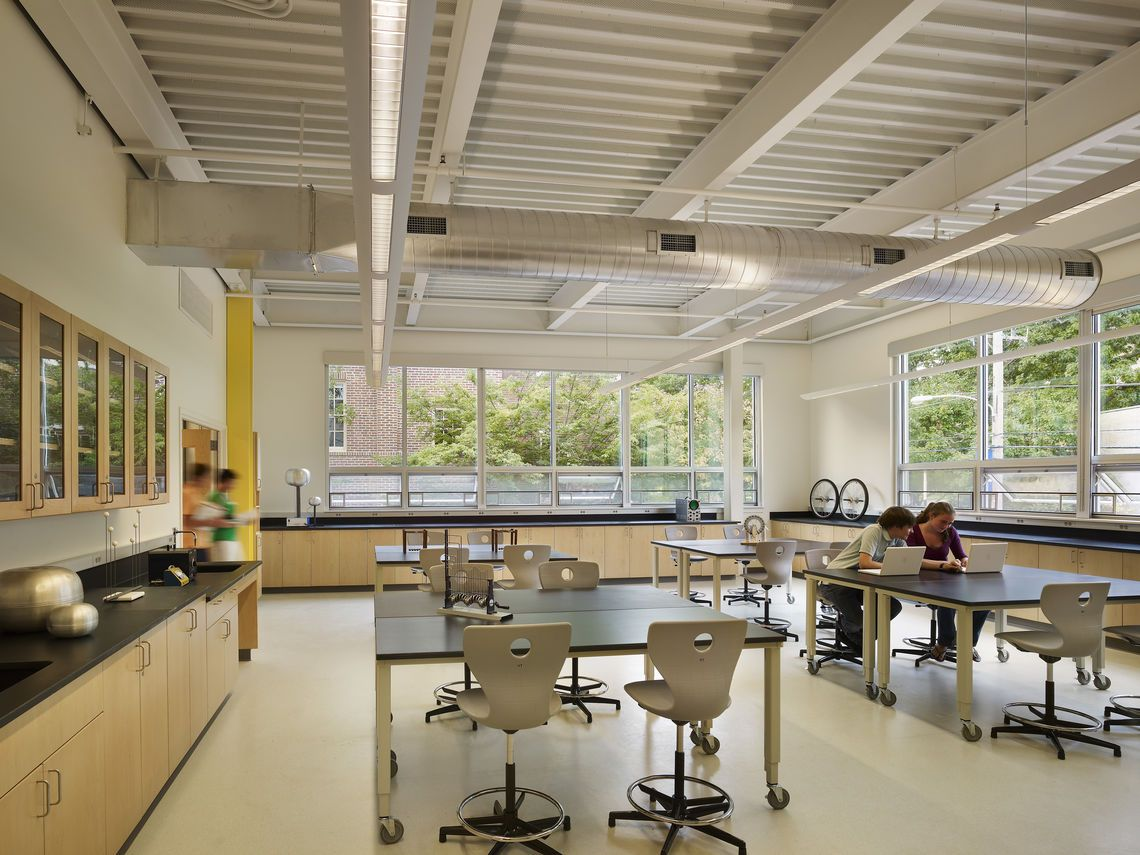 Classroom Design Architecture : Gfs physics lab people sfcc art and technology building