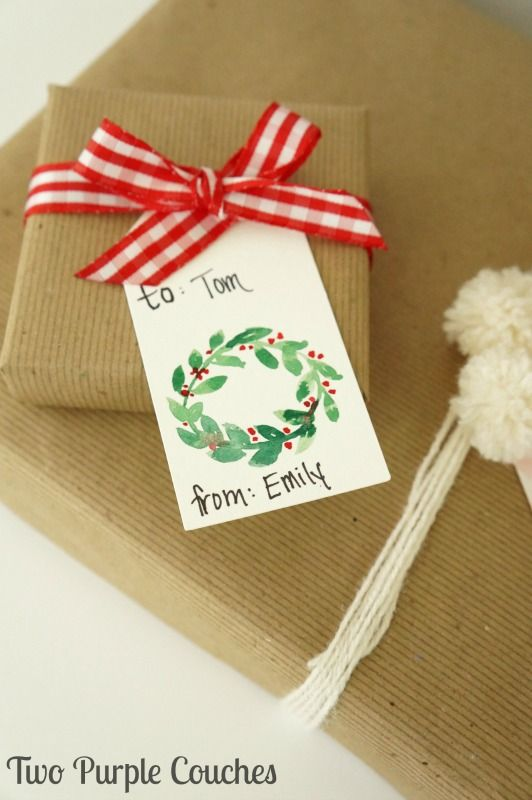 Easy Watercolor Christmas Gift Tags Diy Christmas Tags