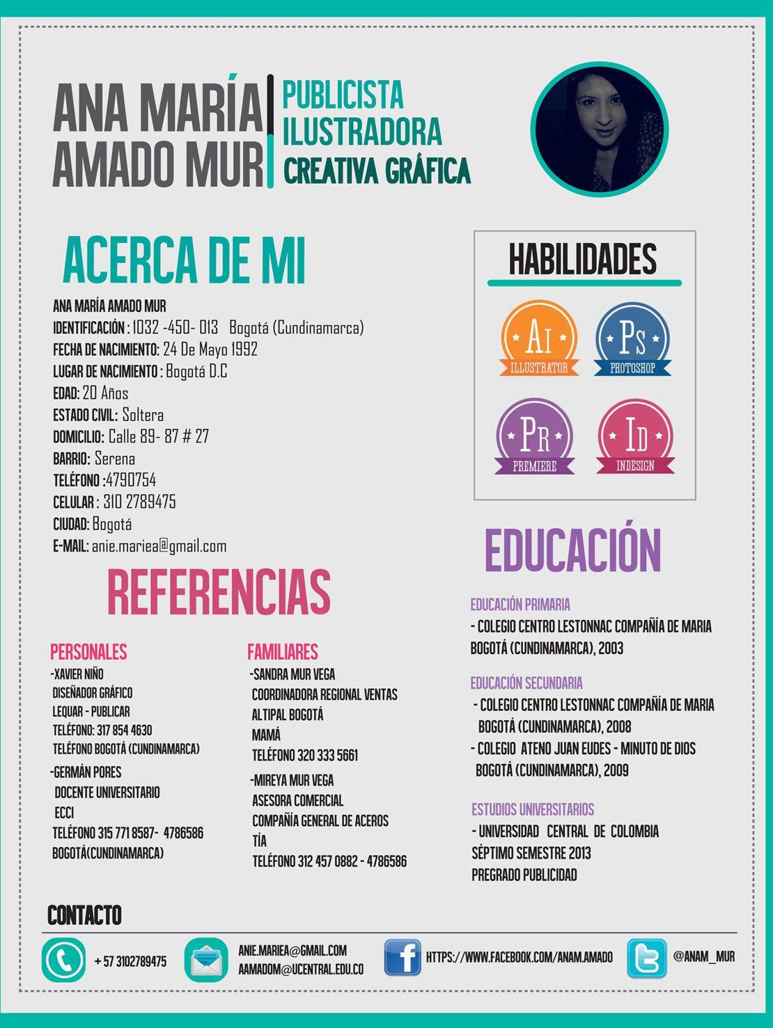 Ana María, de Colombia, nos envía su CV. ¿Qué te parece