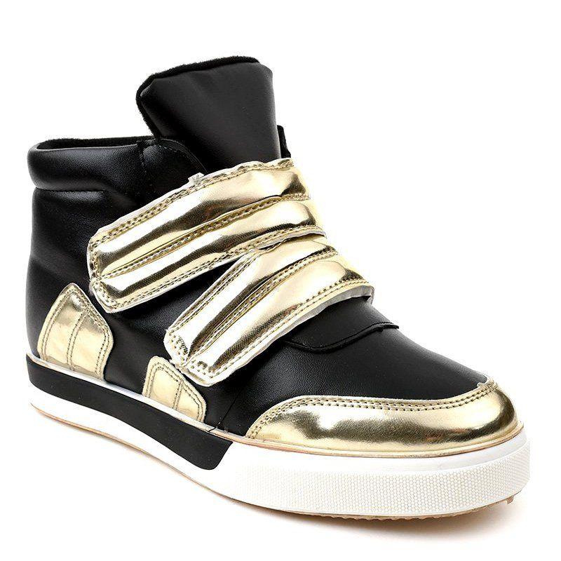 Czarne Ocieplane Trampki Na Koturnie Gf Zm26 Sneakers Boot Shoes Women Womens Boots