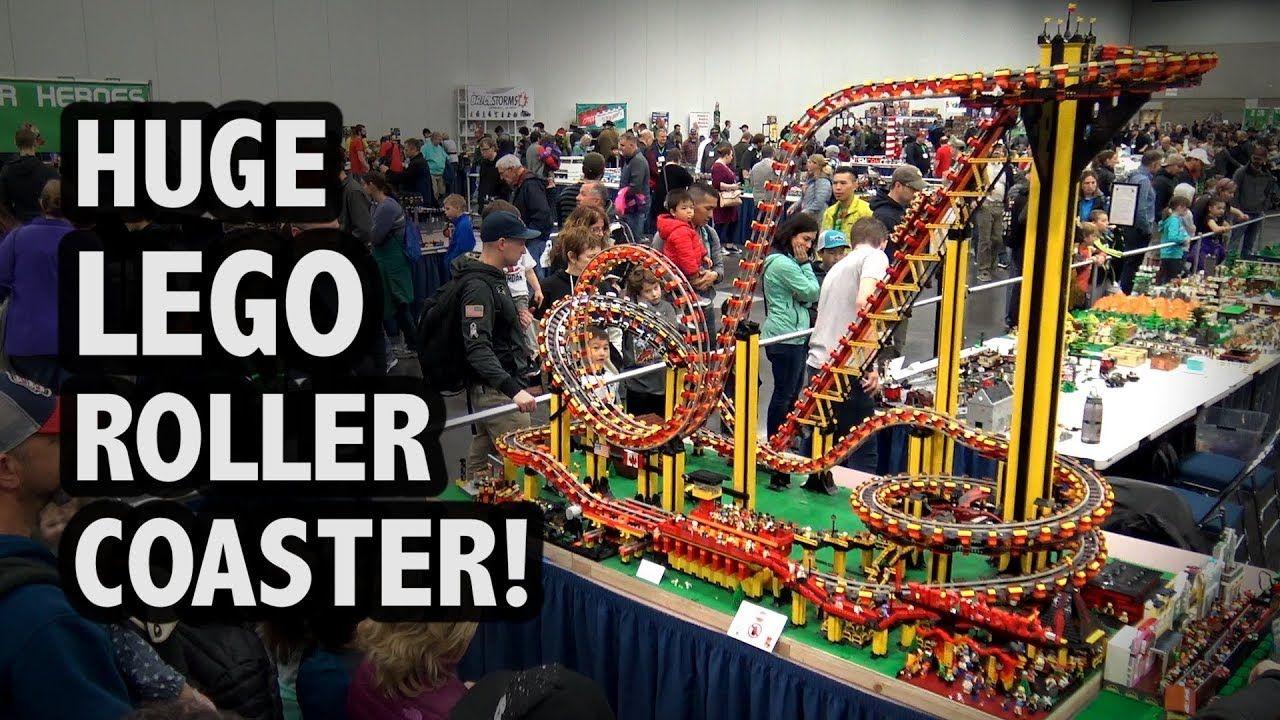 Motorized Lego Giant Roller Coaster Bricks Cascade 2018 Lego Dinosaur Lego Projects Lego