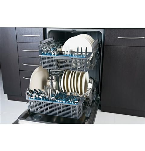 Do you have trouble washing tall items like plates and bottles? With an adjustable upper rack in a GE dishwasher, this is no longer a spring cleaning problem.