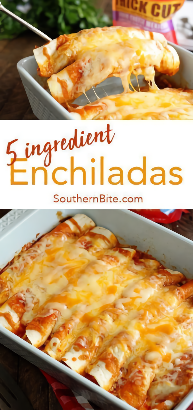 5 Ingredient Beef Enchiladas #Dinnerrecipe #Food #Amazingrecipe images