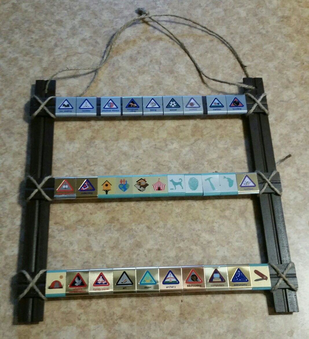 www craft ideas cub scout belt loop display with 5 wood rulers glue and 3273
