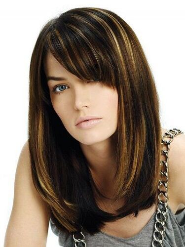 Without The Side Bangs Hair Styles Long Bob Hairstyles Long Hair Styles