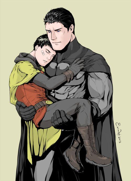 Fanart Bruce wayne carry dick grason | MARVEL / DC / COMICS | Damian