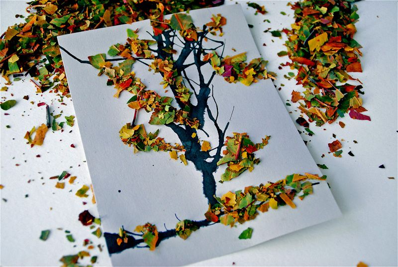 Fall tree craft for ella and grace on thanksgiving? @Beth Seney