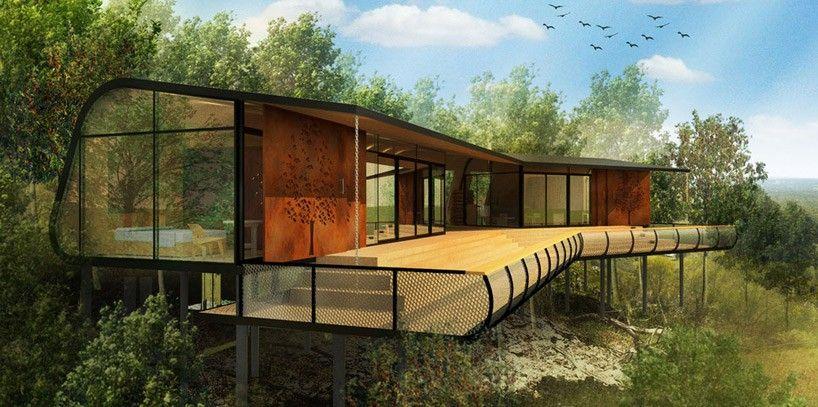 ABA mount cotton eco-cabins designboom