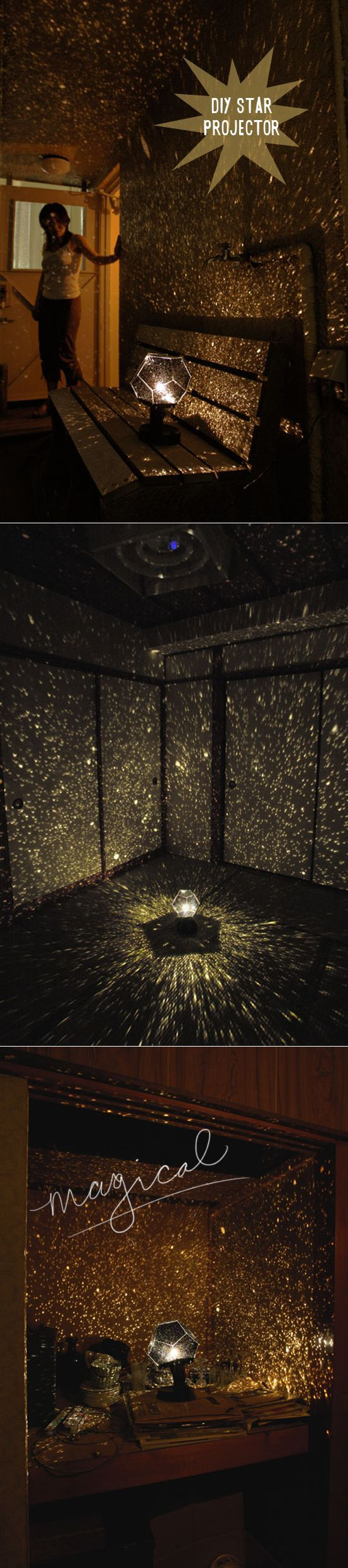 Star map projector lamp - How To Make A Star Projector