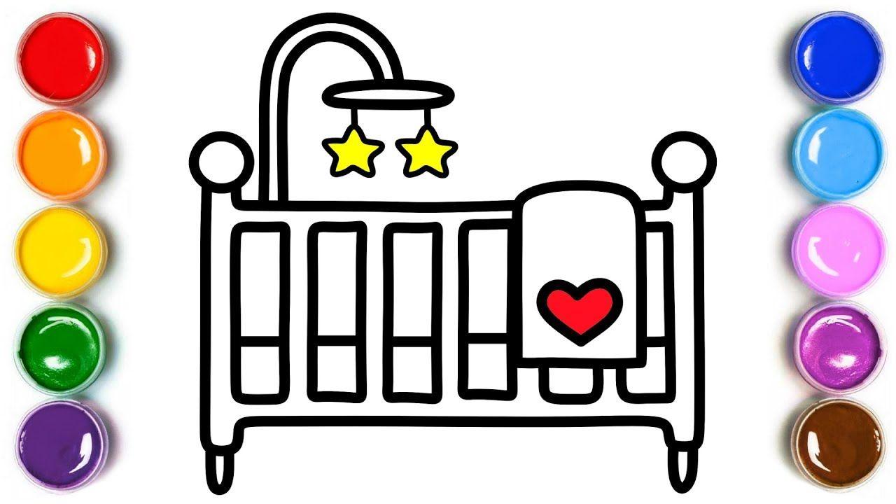 How To Draw Baby Crib Carriage Heart Beach Ball ...