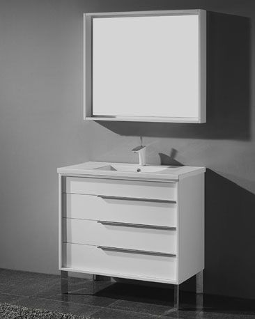 Milano 30 Inch Modern White Bathroom Vanities Free Standing All Pleasing Bathroom Vanity 30 Inch Decorating Inspiration