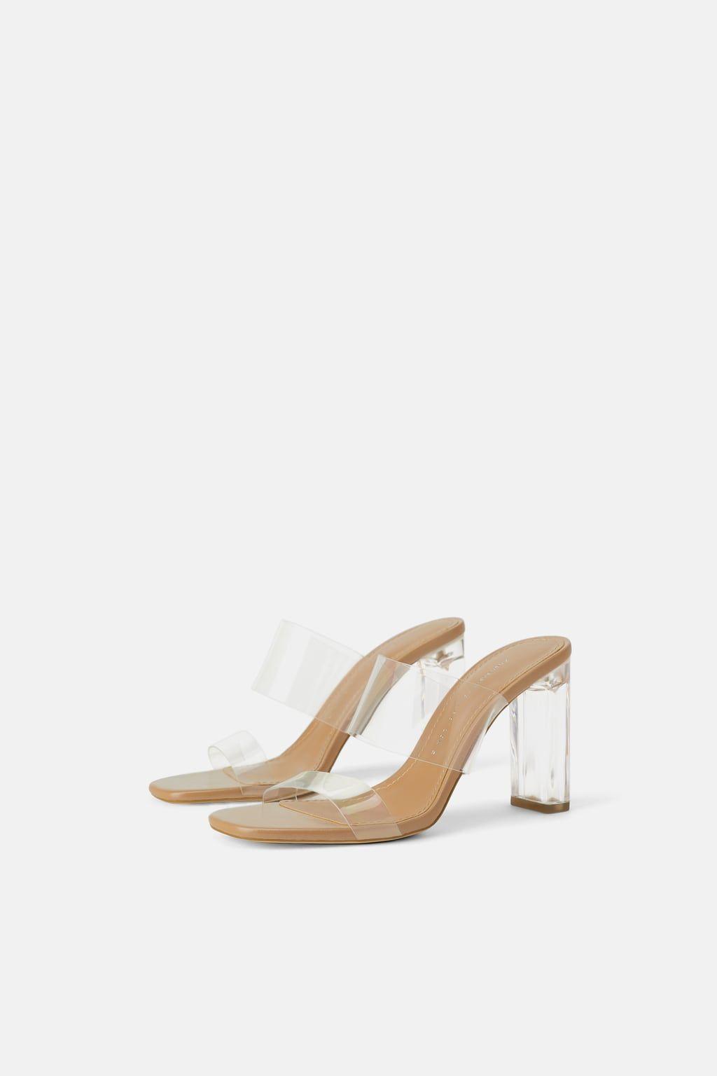 57d3b9a5f8 VINYL SANDALS WITH METHACRYLATE HEEL-DRESS TIME-WOMAN-CORNER SHOPS | ZARA  United States