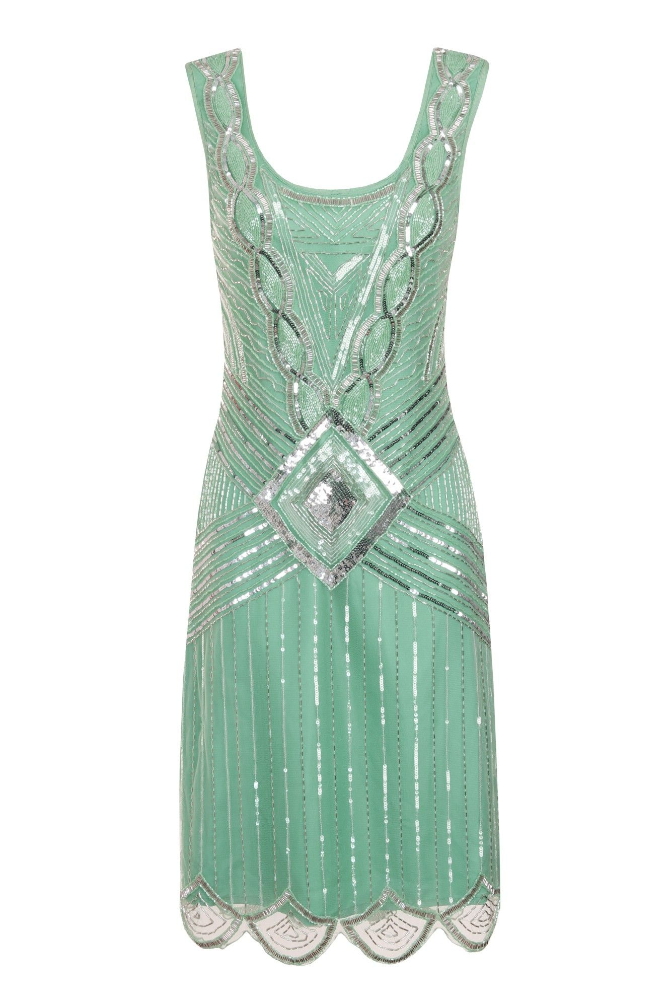 Athena Mint Sequin Gatsby Gown | Jazz Age Lawn Party Outfits ...