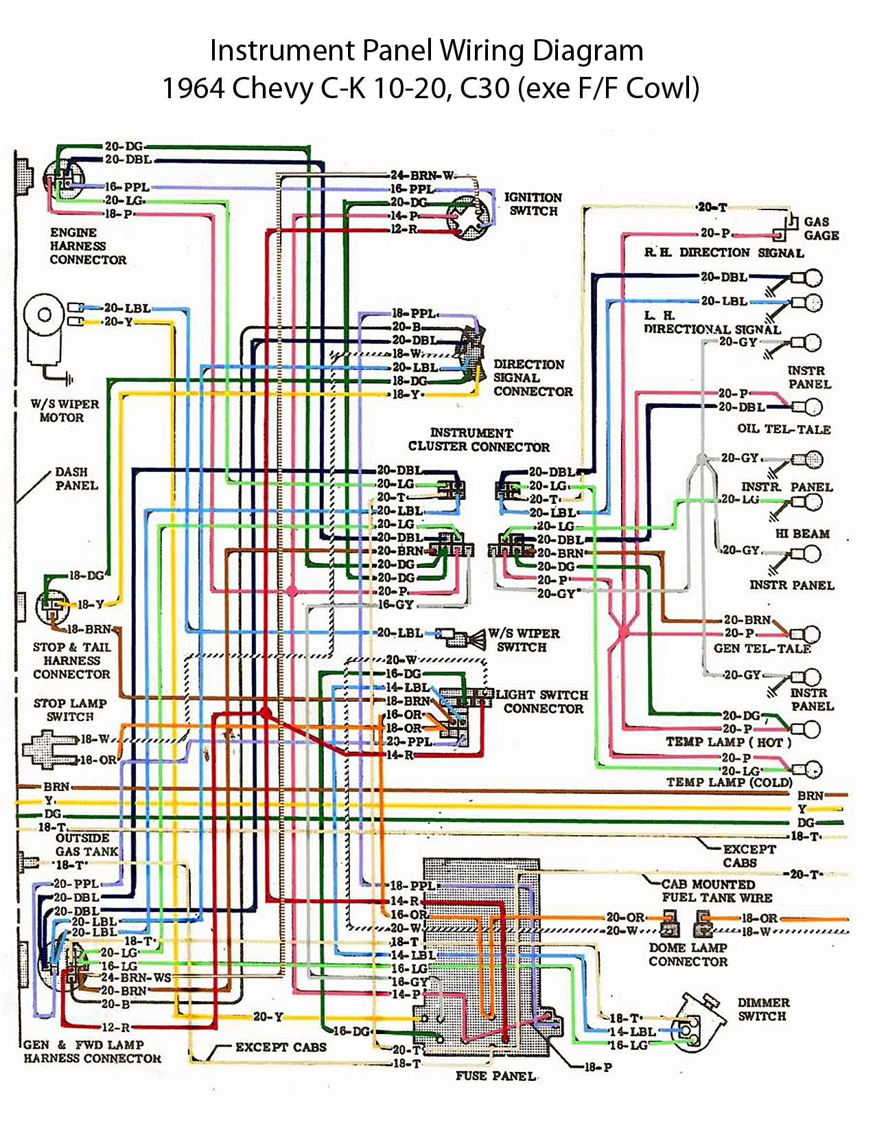 29f907bf017db832106977dbff5b5b31 64 chevy c10 wiring diagram chevy truck wiring diagram 64 1964 chevy wiring diagram at soozxer.org