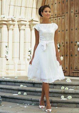 Standesamtkleid weiss   Hochzeitskleid, Kleid hochzeit und ...