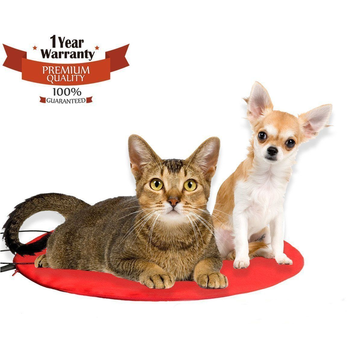 Heating Pet Bed ONEVER Electric Heating Pad for Dogs Cats