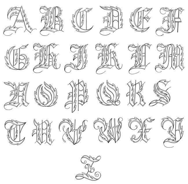 Fancy Cursive Fonts Alphabet For Tattoos Scaninglisfo: fancy ...
