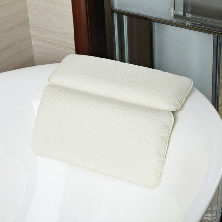 Langria Grip Original Spa Bath Pillow Features Powerful Gripping
