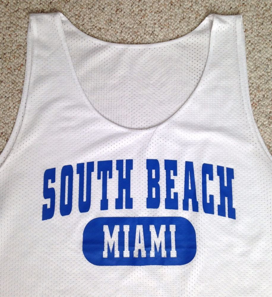super popular 2fa46 3d40e New SOUTH BEACH *MESH* TANK TOP Miami Florida Polyester ...