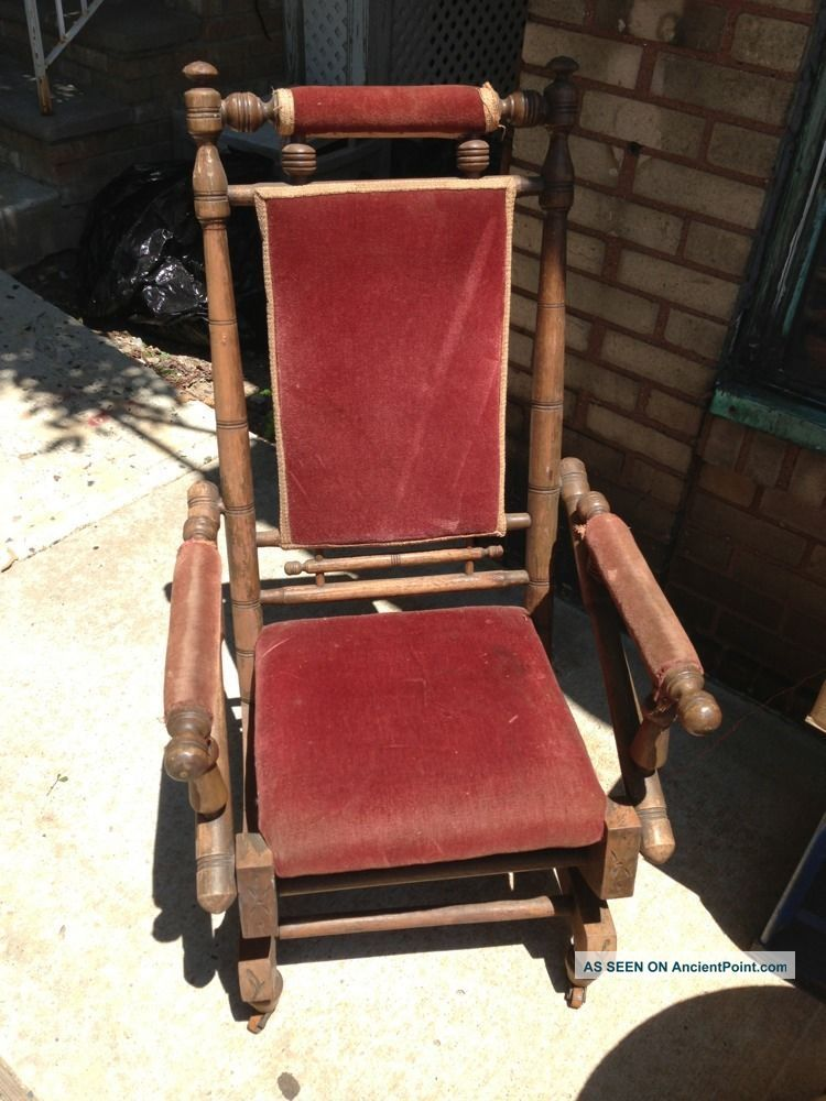 Antique Vintage Platform Rocker Spring Rocking Chair