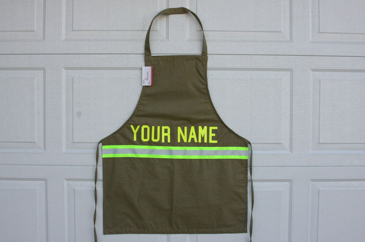 Custom Firefighter Apron With Lettering Of Your Choice