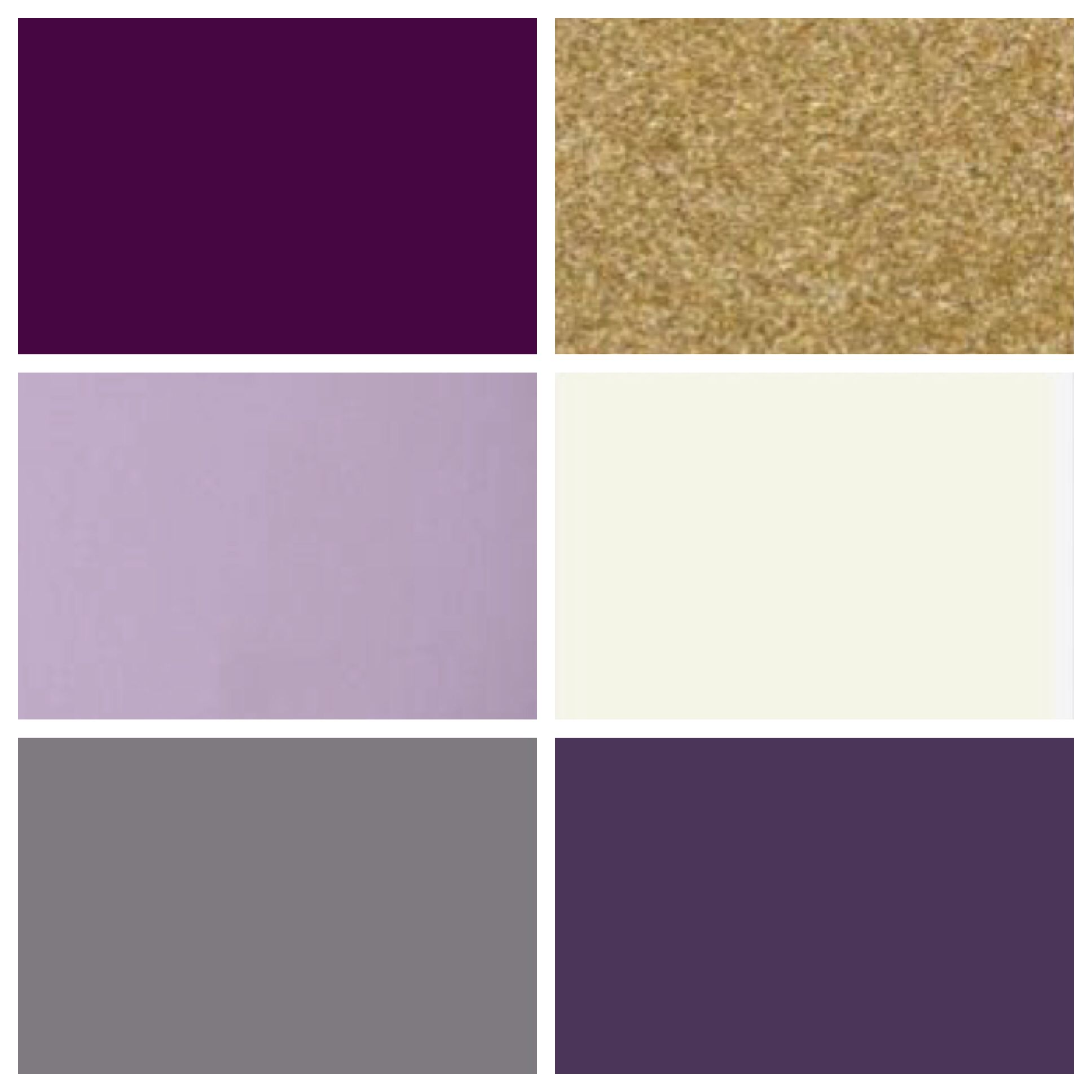 C J Wedding Color Palette Plum Lilac