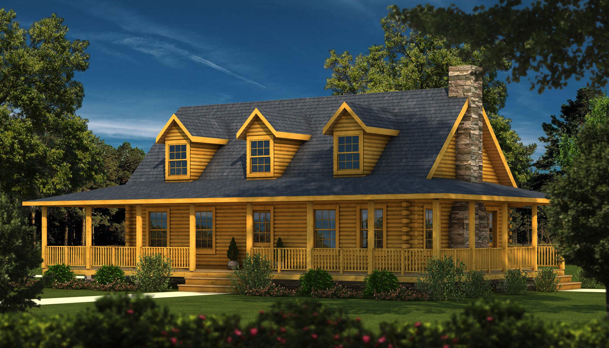Log Home House Plans Designs. House  Charleston II Log Home Plan Southland Homes https www