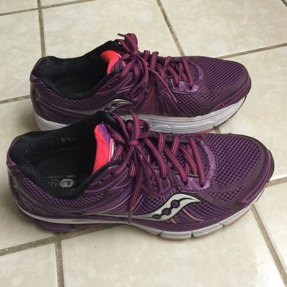 725c4494b6ff Saucony Running Shoes Purple Saucony running shoes that are gently used. Used  in gym