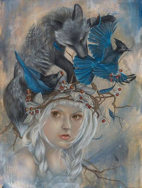 Stunning new work by Kari-Lise Alexander for her upcoming solo exhibition at Auguste Clown Gallery - 'Here Amid The Wild Woods' - February 21st and runs through March 9th