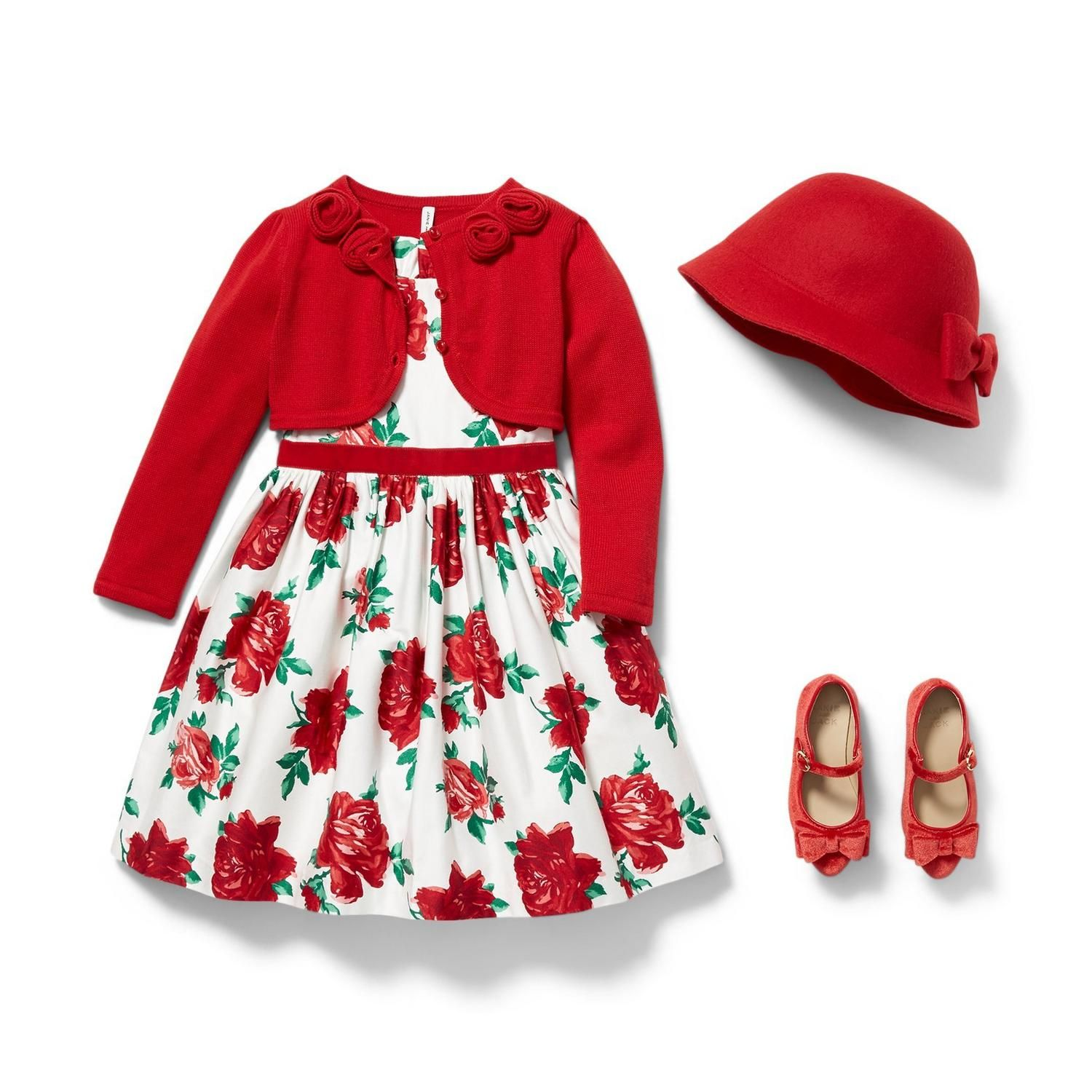 Girl Ruby Rose Print Rose Dress By Janie And Jack Rose Dress Outfit Girl Outfits Rose Print Dress