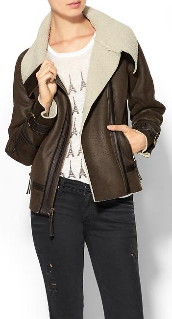 This sweet shearling aviator jacket is only $56 with code:  SHOPSALE - ends today! http://rstyle.me/~2WEAz