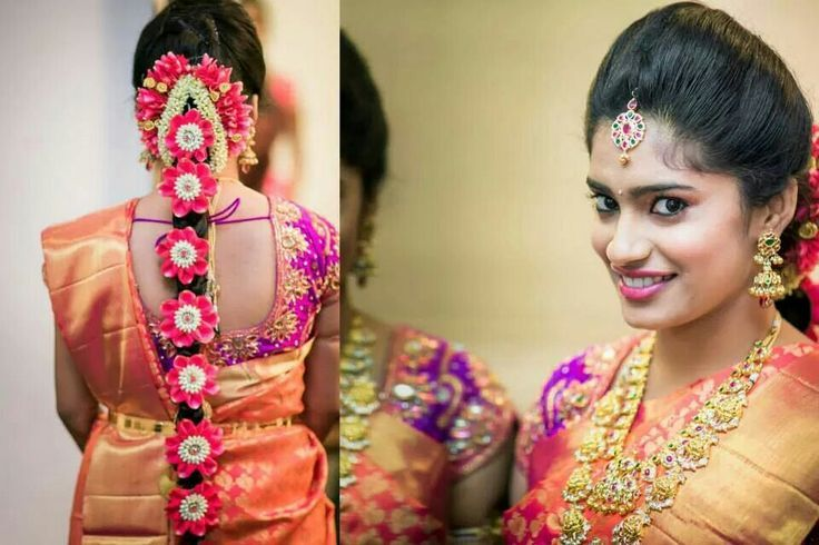 South Indian Bridal Front Hairstyles Southindian Bridalhairstyle
