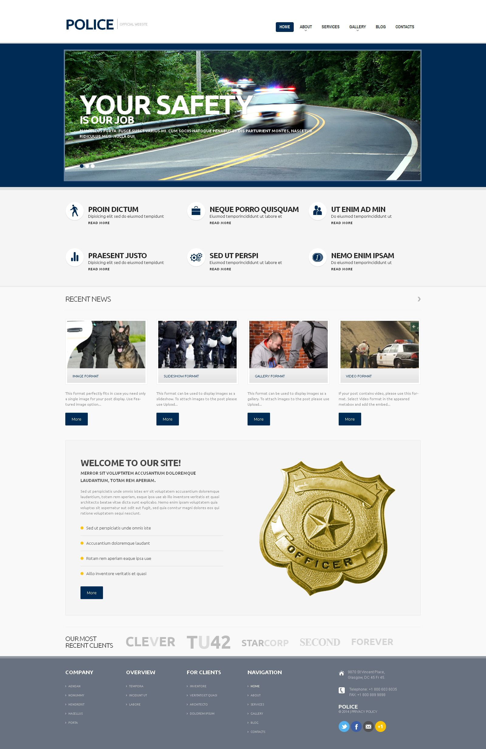 Police Responsive Wordpress Theme  Wordpress