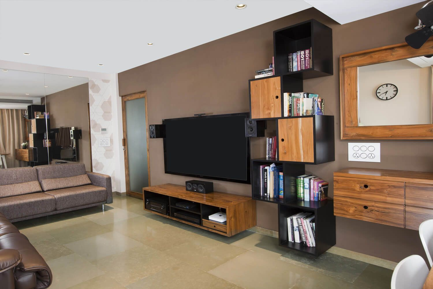A Very Beautiful And Spacious Living Room Design By House Interior Designer In Mumbai
