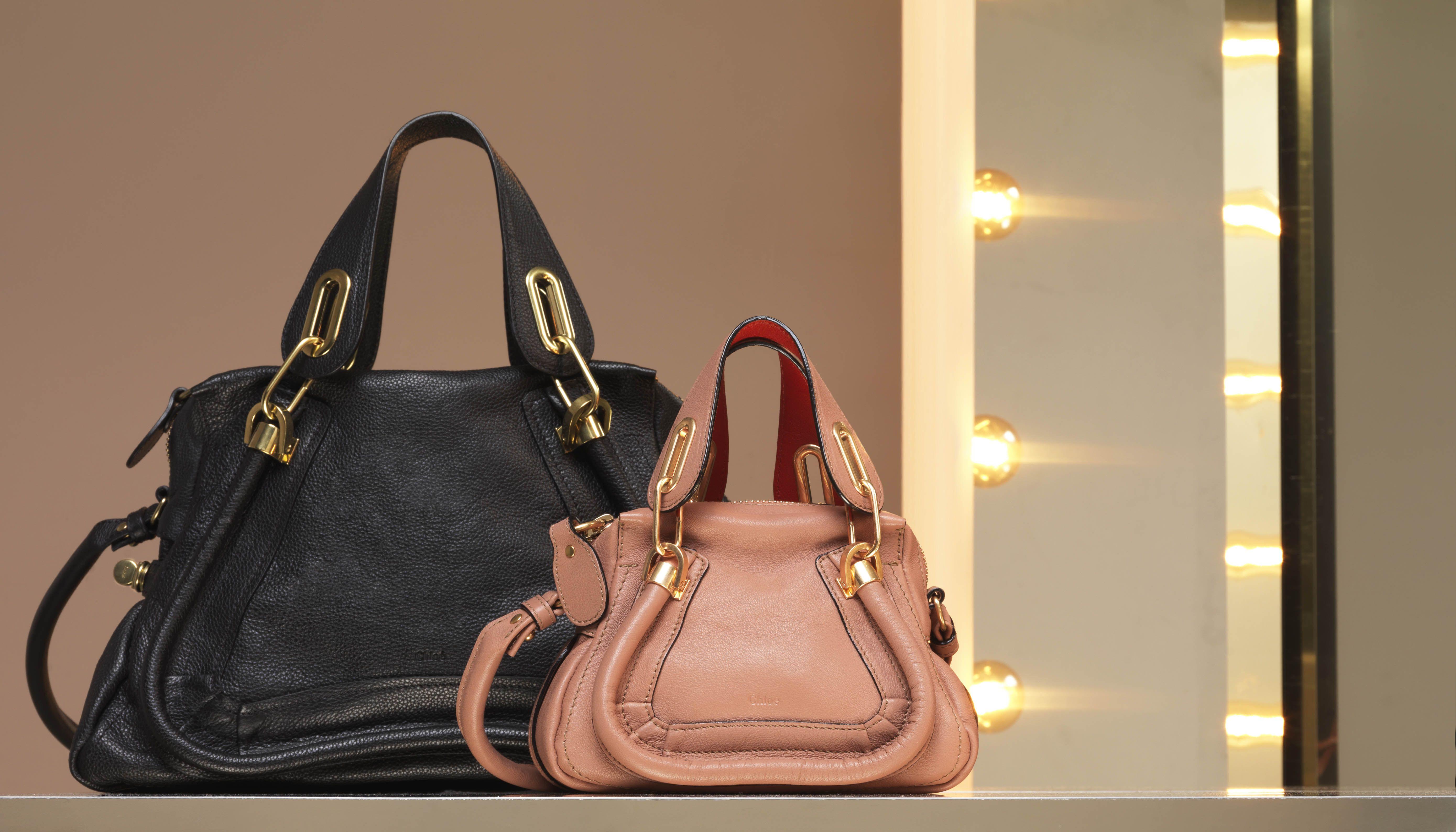 Chloe Paraty Medium Shoulder Bag In Calfskin Mini Soft