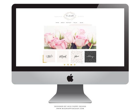 Fleur Ultimate Web and Blog Kit / Package by MissPoppyDesign