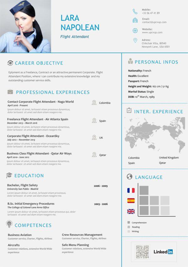 Exemple CV Hôtesse de l'air à télécharger format Word ...